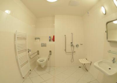 Sociální zařízení pokojů v rezienci
