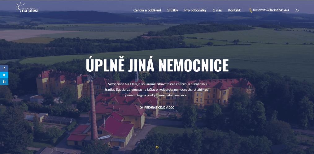 Nový web Nemocnice Na Pleši