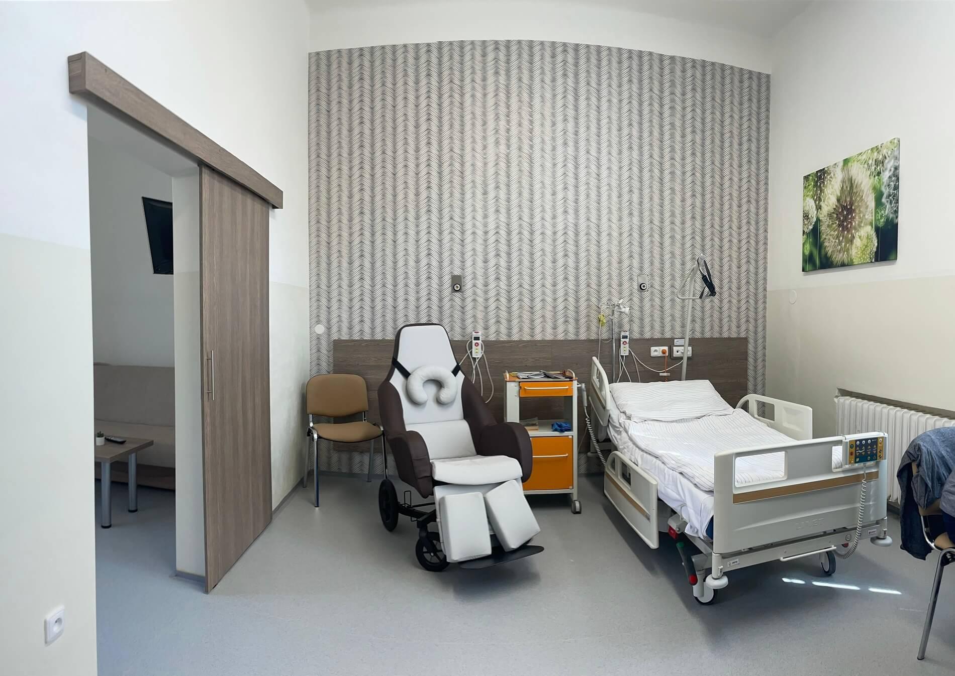 Nadstandardní apartmán na onkologickém oddělení